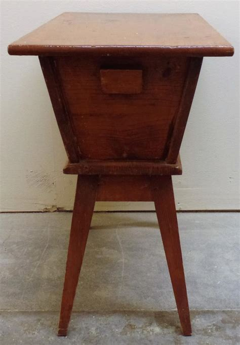 antique table l markings vintage bread table dough box no visible markings