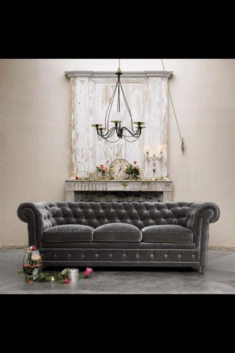 Tufted Grey Gray Velvet Chesterfield Sofa Dream Home Gray Velvet Chesterfield Sofa
