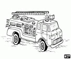fire truck coloring page printable game