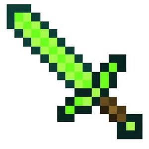 minecraft sword template minecraft printable emerald swords size arlemite