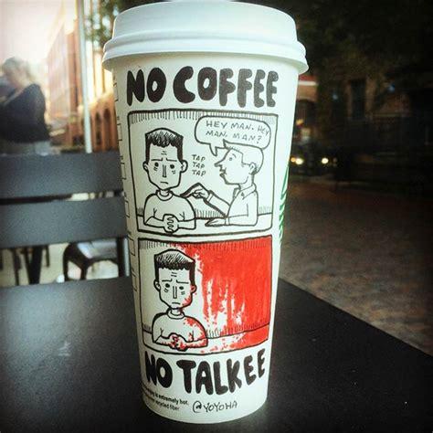 starbucks coffee cup cartoons  pics