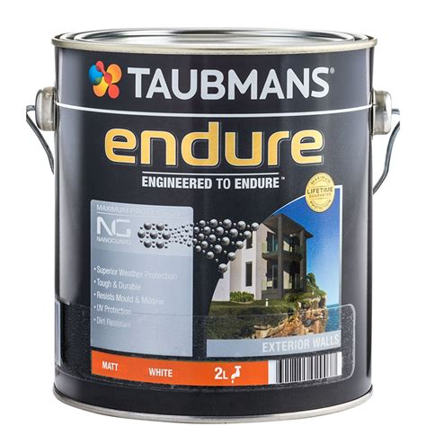 taubmans exterior paint colours taubmans endure 2l white matt exterior paint bunnings