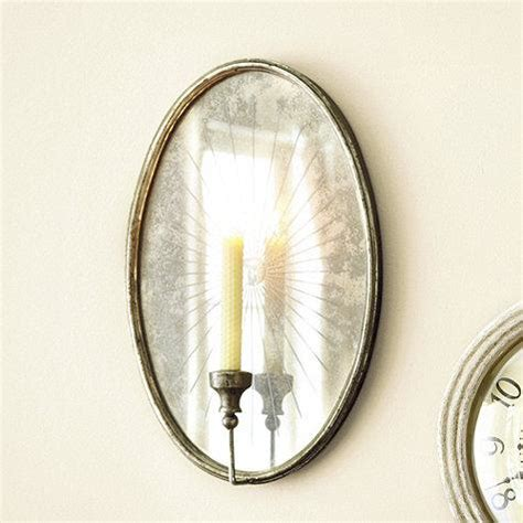 Candle Wall Sconces With Mirror Round Gold Metallic Mirror Sconce Candleholder