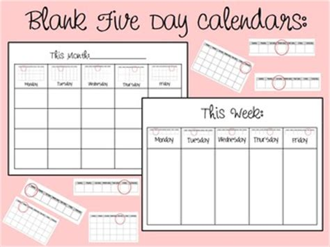 blank monthly calendars teachers blank weekly and monthly calendars by autism the teen