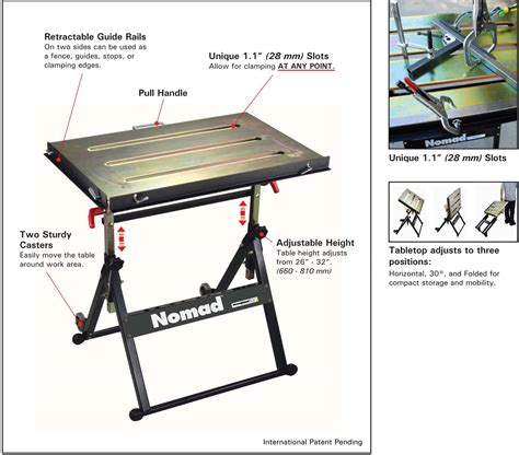 strong welding table stronghand nomad portable welding table