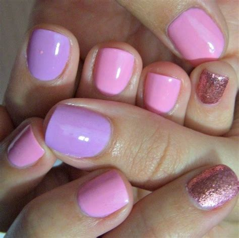 Awesome pink amp purple glitter nail art glitter nail art pinterest