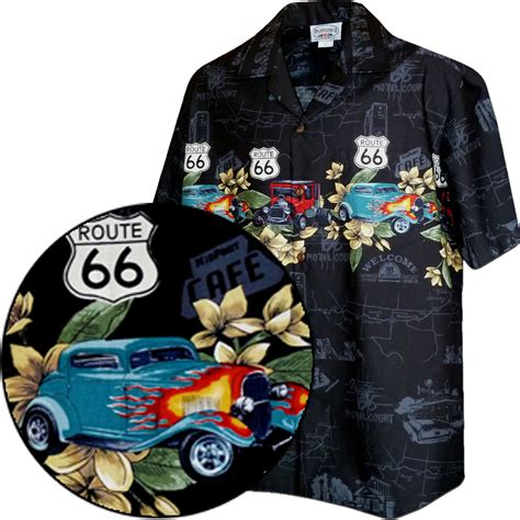 historic route 66 with classic cars shirts black