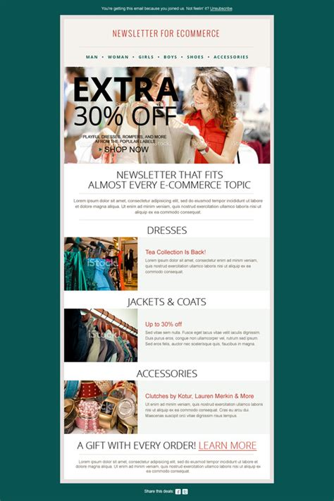 fashion newsletter templates fashion ecommerce newsletter psd templates on creative