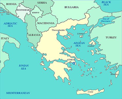 ionian sea map map of greece greece map shows cities and islands in the