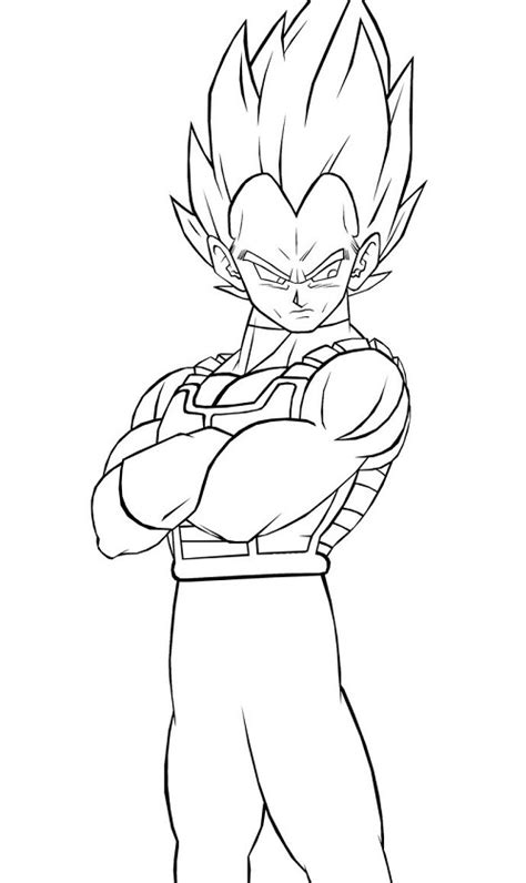 printable vegeta coloring pages coloring me