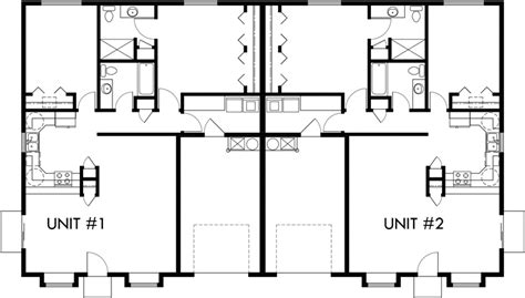 1 Bedroom Duplex Plans by Floor Plan 2 For D 583 One Story Duplex House Plans