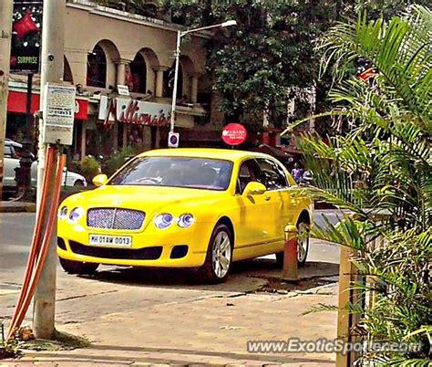bentley mumbai bentley continental spotted in mumbai india on 08 19 2013