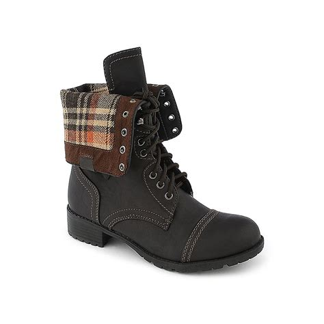shiekh brown s fold combat boot oralee s