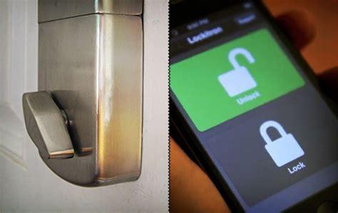 Front Door Lock Iphone Unlock Your Door With Your Iphone Lockitron Gadgetking Com