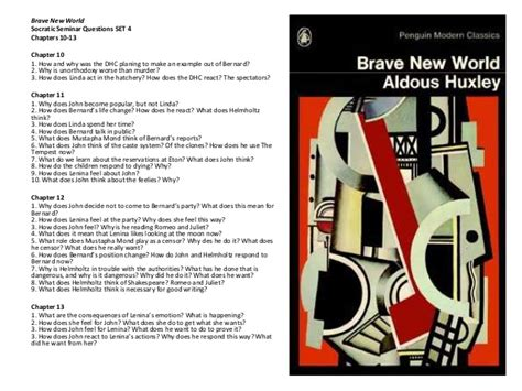 brave new world chapter themes bnw socratic semicar questions