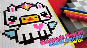 kawaii unicorn pixel art garbi kw