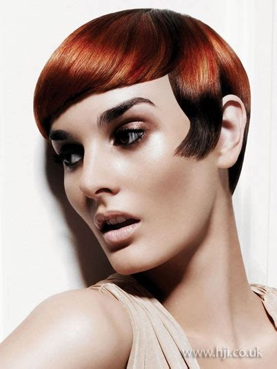 redhead short hairstyle creative hair pinterest