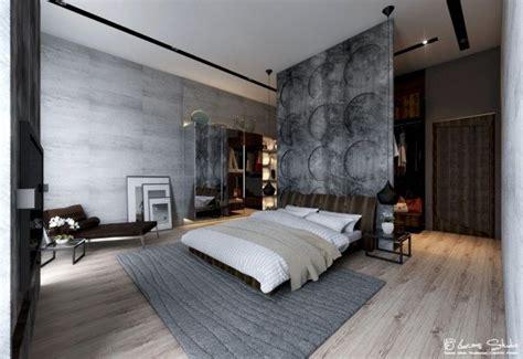 65 luftfeuchtigkeit im schlafzimmer modernes schlafzimmer sichtbeton wand optik holzboden