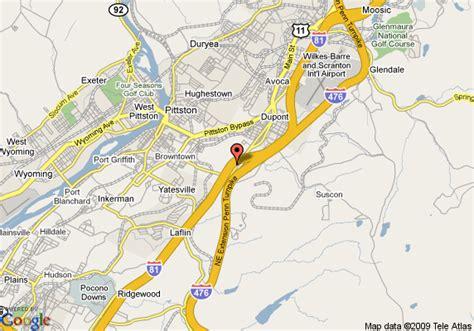 Comfort Inn In Pa Map Of Quality Inn Pittston Pittston