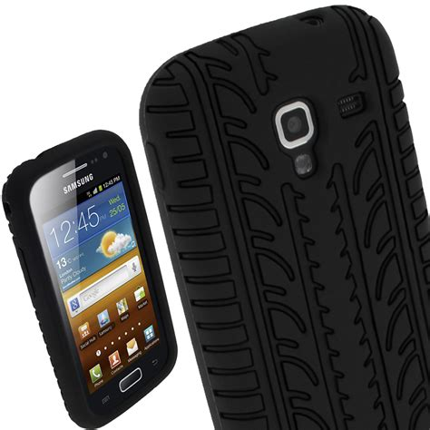 Casing Housing For Samsung Galaxy Ace 2 I8160 Original igadgitz black silicone skin cover with tyre tread design for samsung galaxy ace 2 i8160