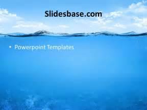 at sea template underwater powerpoint template slidesbase