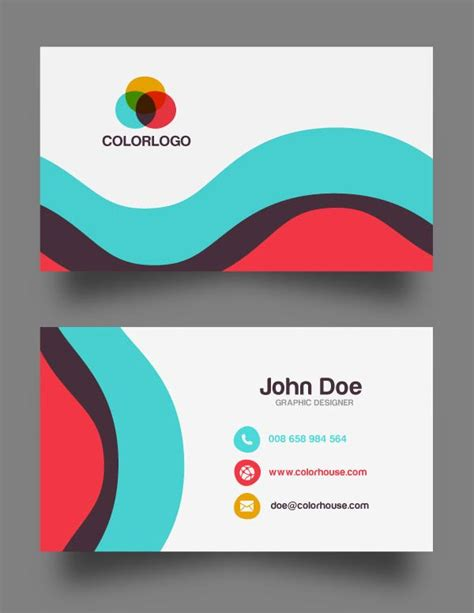 free business card template print your own images card