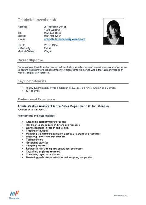 cv layout switzerland how can you make your cv stand out