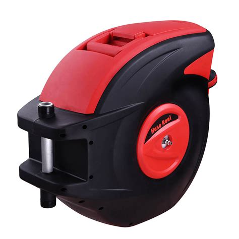 retractable air compressor hose reel auto rewind tools 100ft 3 8 quot 300 psi garage ebay