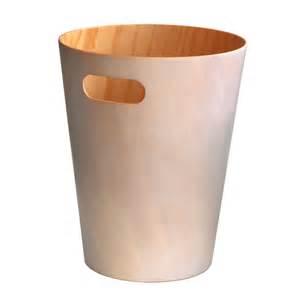 corbeille 224 papier en bois poubelle de bureau umbra au