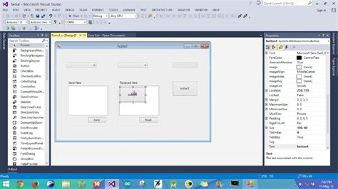 tutorial web visual studio visual studio c serial communication tutorial part 1