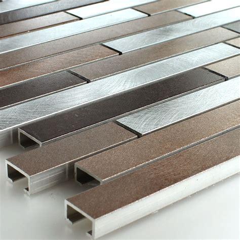 metall fliesen aluminium alu metall edelstahl mosaik fliesen kupfer braun