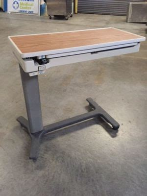hill rom overbed table used hill rom pm jr overbed table un venta la dotmed