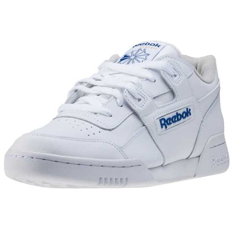 reebok workout plus mens trainers in white