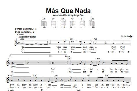 piano tutorial mas que nada mas que nada partituras por sergio mendes f 225 cil guitarra