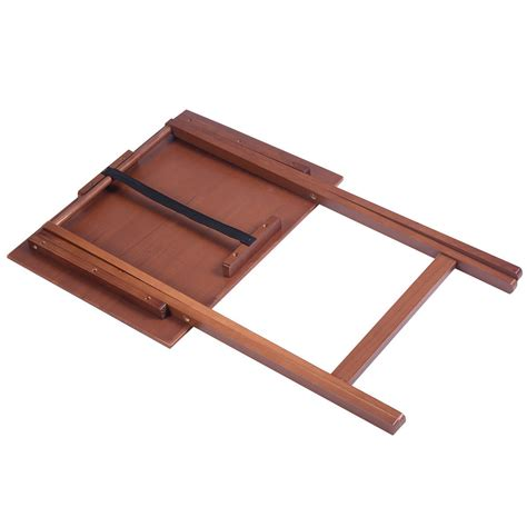wood tv table trays set of 4 portable wood tv table folding tray desk serving