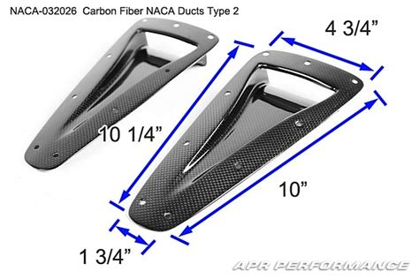 naca duct template apr carbon fiber naca ducts type 2 2 pcs naca 032026