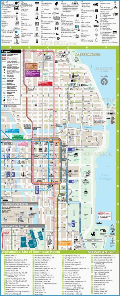 chicago map tourist chicago map tourist attractions travelsfinders