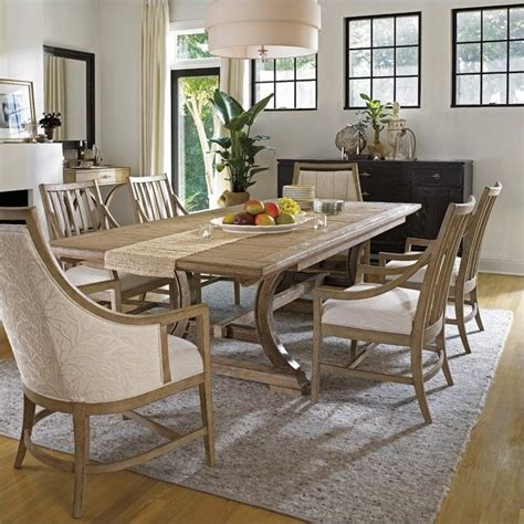 stanley furniture shelter bay 7 piece dining set in