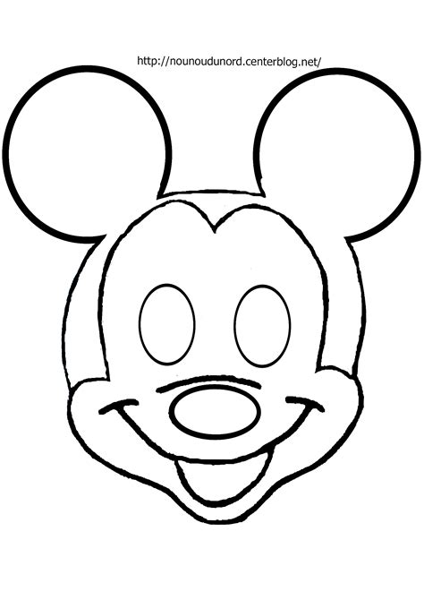 masque mickey 224 imprimer