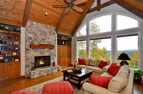 mountain laurel  images stacked stone fireplaces