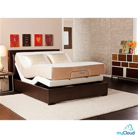 bjs bed frame sei mycloud queen size adjustable bed frame with mattress bj s wholesale club