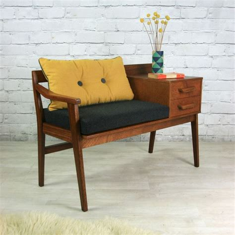 vintage telephone bench vintage teak 1960s telephone seat furniture mid century
