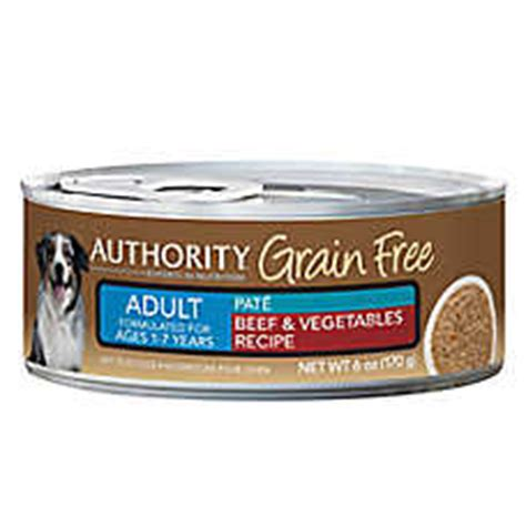 authority grain free puppy food authority 174 grain free food beef vegetables canned food petsmart