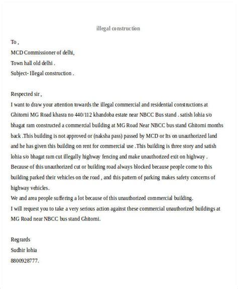 Complaint Letter About Contractor complaint letter exle