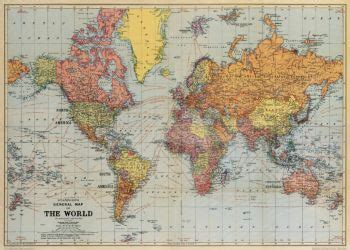 Paper World Map cavallini world map wrapping paper