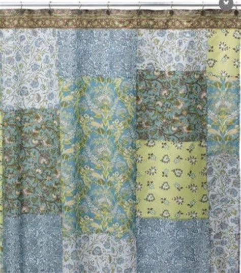 Blue Patchwork Curtains - chenab one 100 cotton paisley floral patchwork blue