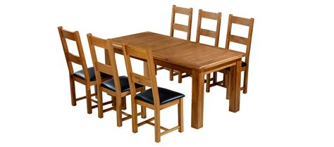 solid oak extending dining table and 6 chairs home kitchen