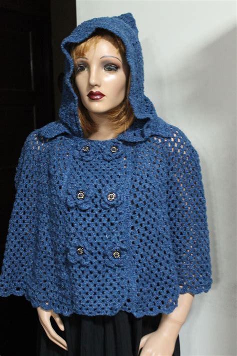 manualidades paso a paso tejido a crochet capas capa con capucha y botones delanteros crochet ropa
