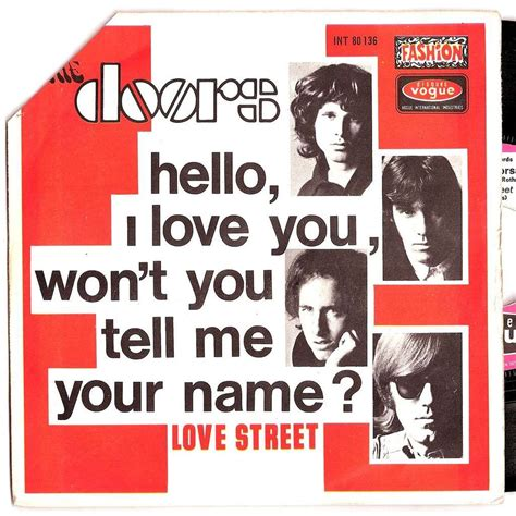 St I You hello i you by doors 7inch sp x 2