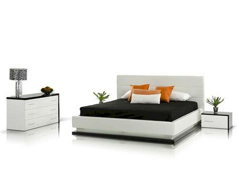 contemporary platform bedroom sets bedroom set with platform bed w lights contemporary style